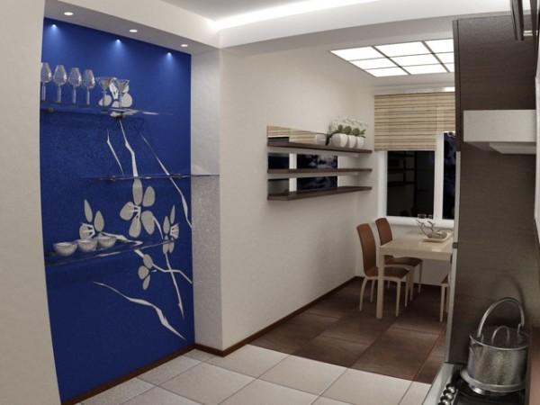 Отделка потолка и стен кухни гипсокартоном