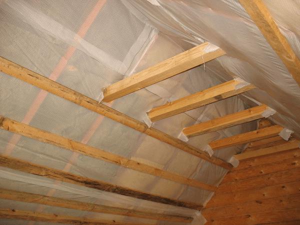 Утеплённые скаты крыши