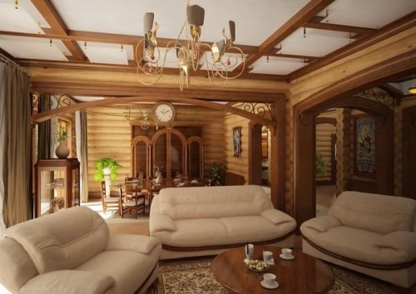 Отделка внутренних стен деревянного дома