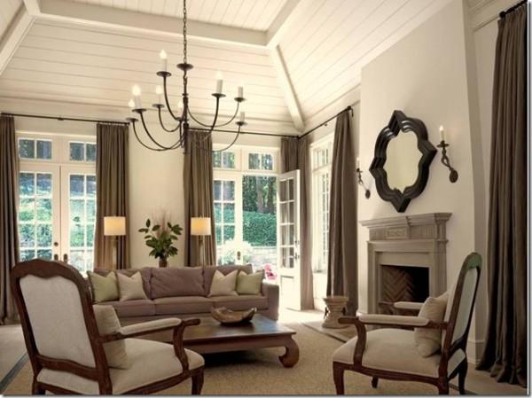 Деревянный потолок в доме без чердака