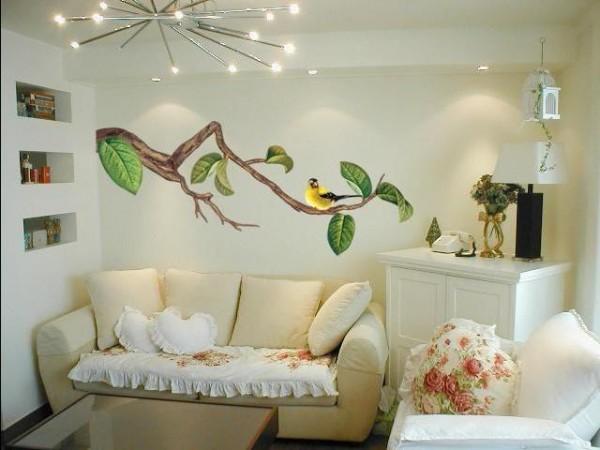 Дизайн стены с жидкими обоями
