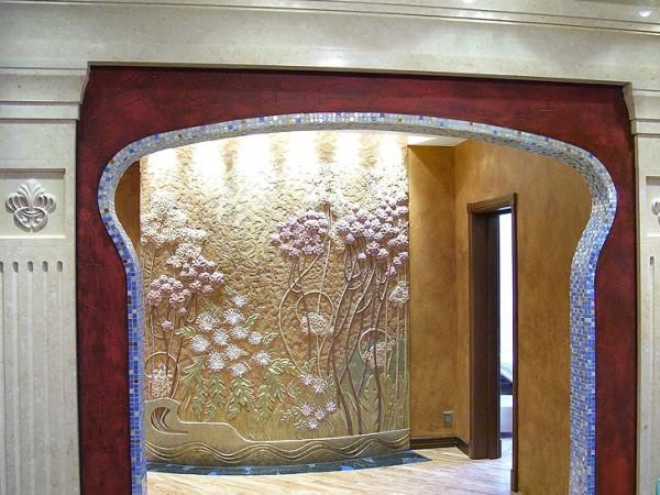 Текстурное оформление стены