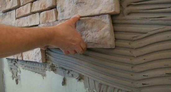 Укладка декоративного камня внахлёст