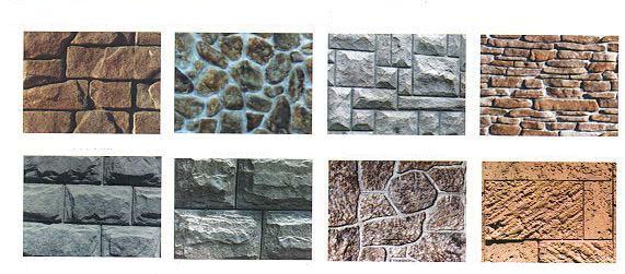 Декоративный камень из цветного бетона