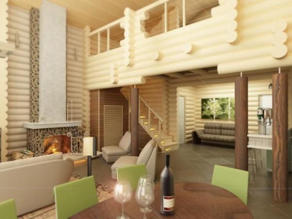 Плиточный пол в деревянном доме