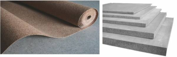 Резино-пробковая подложка и плиты ЦСП