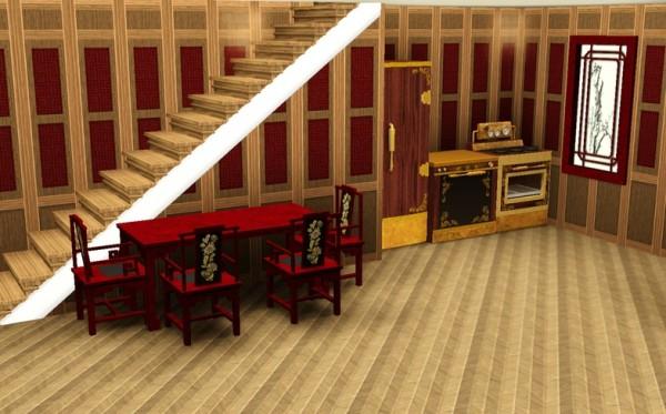Кухня, расположенная в цокольном этаже