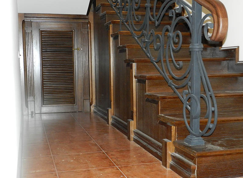 Отделка бетонных лестниц в доме фото 165