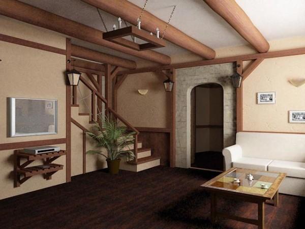 Декоративный каркас и несущие конструкции в дизайне дома