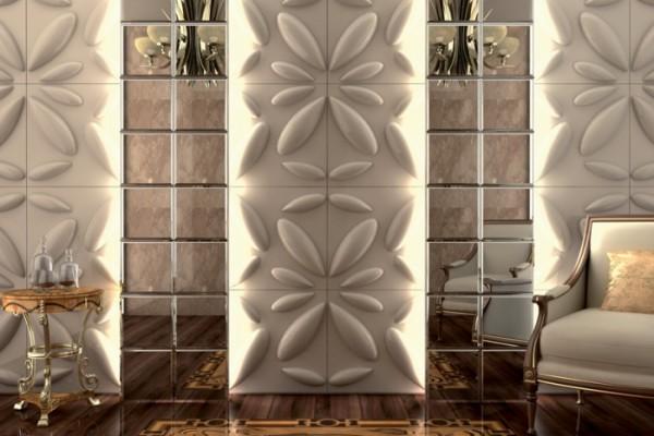 Дизайн гостиной с бамбуковыми панелями