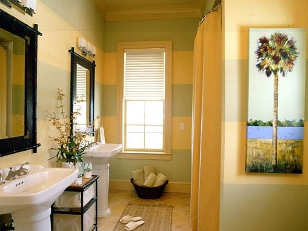 Дизайн ванной с помощью краски