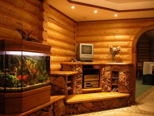 Использование дерева для отделки стен