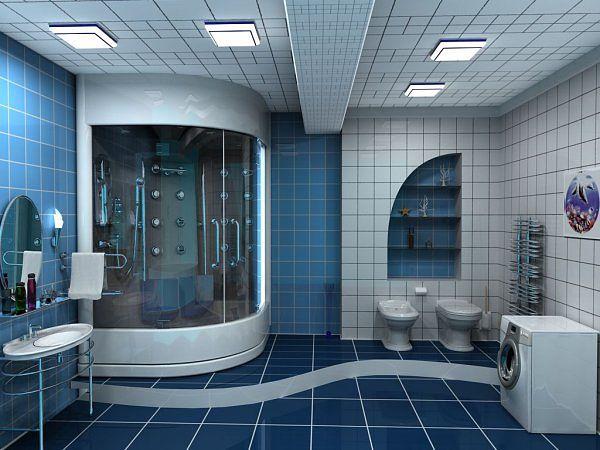Морская тема в отделке ванной комнаты