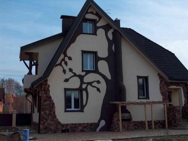 Оформление фасадов натуральным камнем