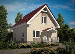 Здание, объединенное общей композицией построения