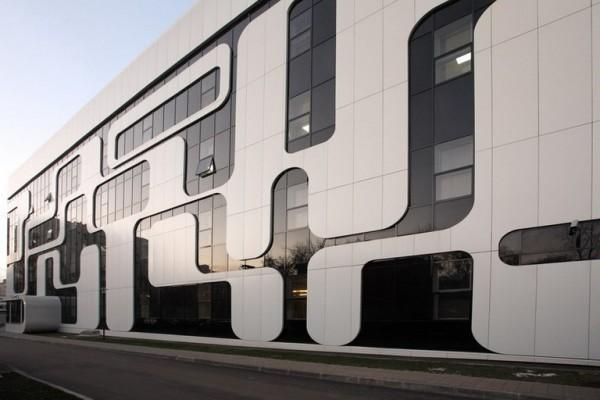 Современная наружная отделка промышленных зданий