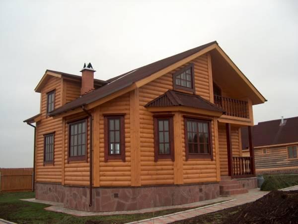 Облицовка фасада блок-хаусом