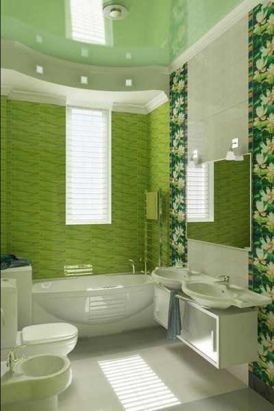 Облицовка ванной комнаты плиткой: дизайн