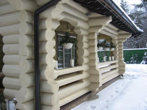 Оригинальный дизайн бревенчатого сруба