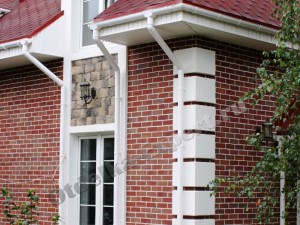 Отделанный фасад плиткой