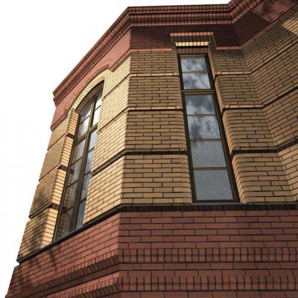 Дизайн фасада дома: отделка кирпичом