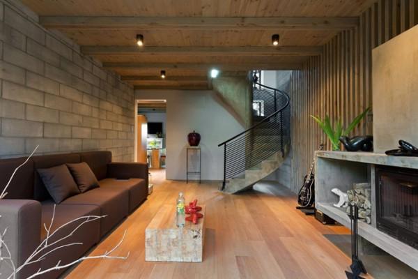 Отделка дома загородного в стиле лофт