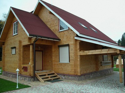 Как выполнить отделку деревянного дома