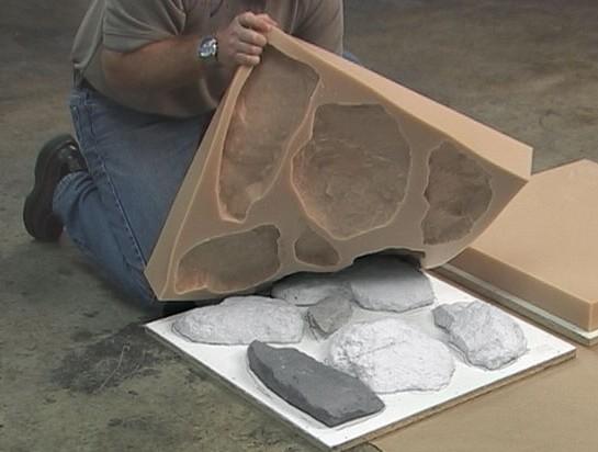 Силиконовая форма для изготовления камня