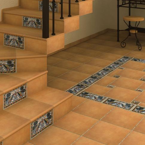 Отделка лестницы керамической плиткой