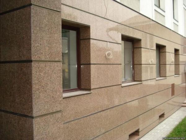 Облицовка фасада керамогранитными плитами