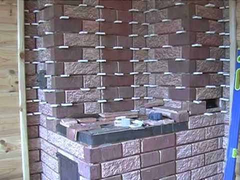 Терракотовая плитка в работе с гипсокартонными квадратиками