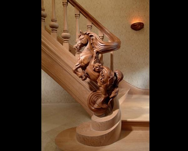 Художественное выполнение перил лестницы