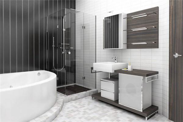 Пластик и плитка в дизайне ванной