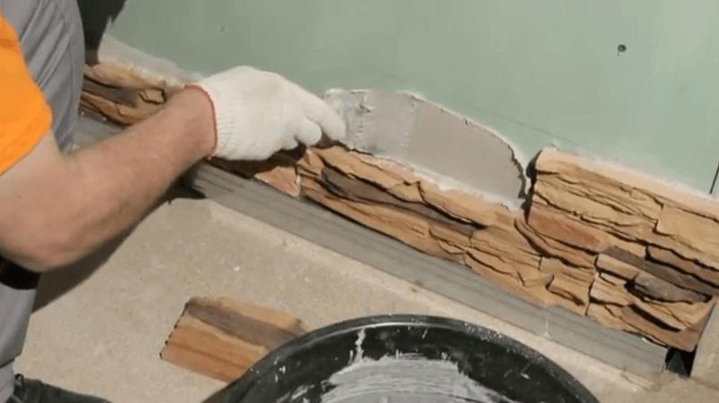 Декоративная гипсовая плитка укладка своими руками