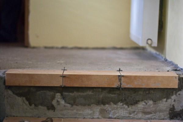 Установка угловой плитки