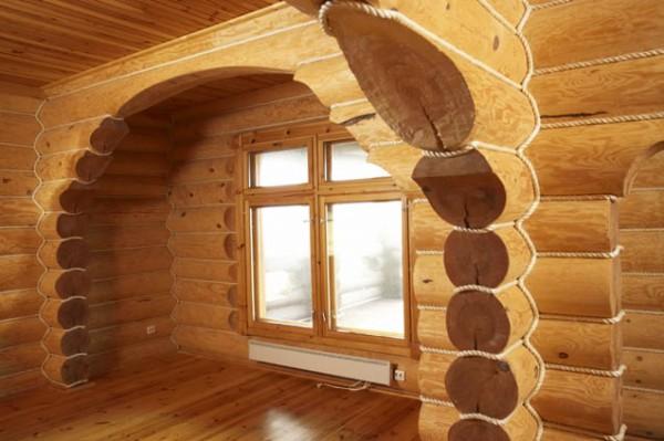Внутренняя отделка декоративным канатом