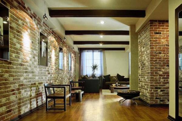 Кирпичный дом – стены внутри: отделка