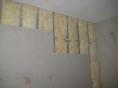 Выравнивание и утепление стен при помощи гипсокартона
