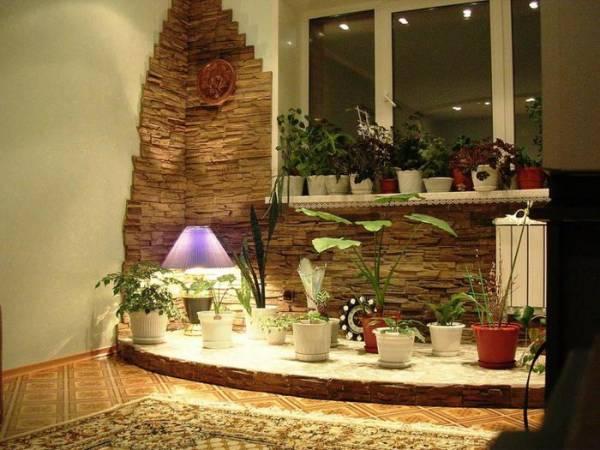Декоративный облицовочный камень в интерьере