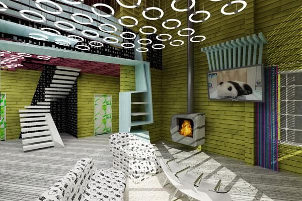 Деревянный сайдинг в дизайне помещения