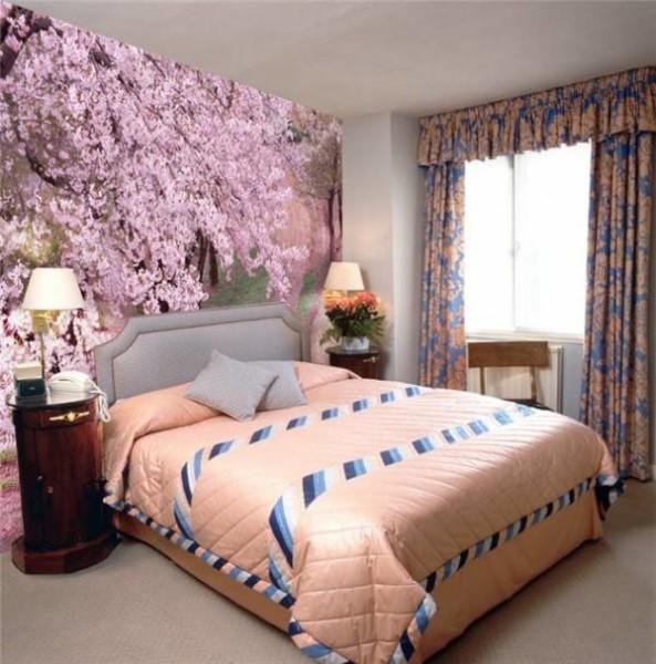 Фотообои в дизайне спальни