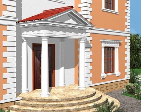 Гипсово-полимерные элементы в дизайне фасада