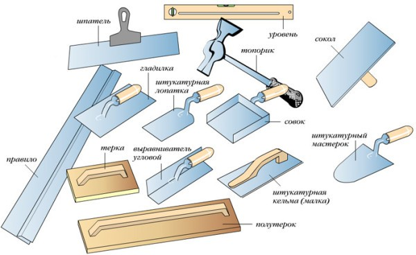 Инструменты для работы со штукатуркой