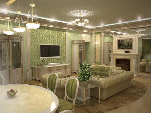 Изысканный стиль в оформлении гостиной