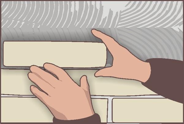 Как производится монтаж декоративного камня на поверхность печи