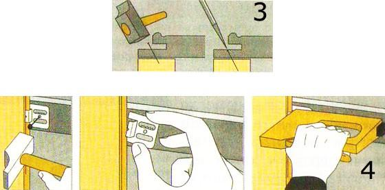 Как производится установка материала