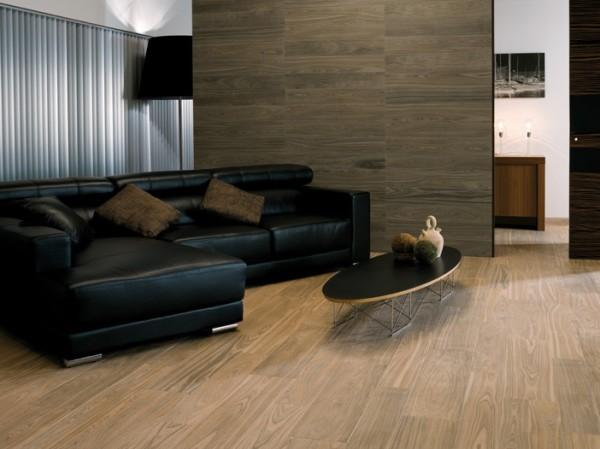 Облицовка плиткой: дизайн гостиной