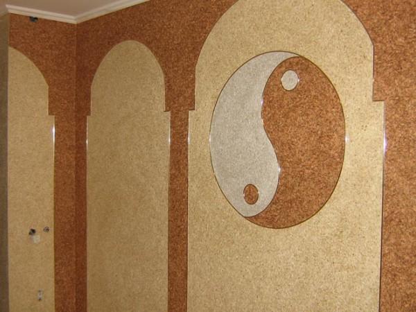Отделка стен текстильным покрытием