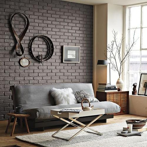 Перегородка из декоративного кирпича в дизайне комнаты