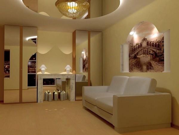 Потолок и стены из гипсокартона
